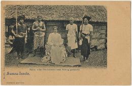 Samoa Inseln Tanu , Vom Oberrichter Zum Konig Gemacht King Of Samoa Edit Franz Schmitt 171 1899 Luxemburg - Samoa