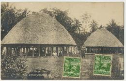 Samoa Real Photo Samoan Houses A.T. Phot Apia Maximum Stamped - Samoa