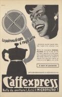 # CAFFEXPRESS OFF.GOZZANO 1950s Advert Pubblicità Publicitè Reklame Coffee Pot Cafetiere Cafè Moca Mokka Kaffeemaschine - Manifesti