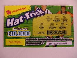 Loterie/ Lottery/ Loteria/Lotaria Instant Instantânia Raspadinha Jogo Nº 244 Hat-Trick Portugal - Billets De Loterie