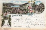 CPA - GERARDMER (88) - Carte Litho. Multi-vues De 1890? - Gerardmer
