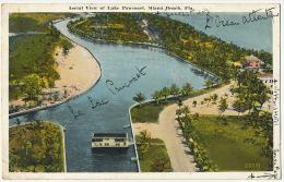 Aerial View Of Lake Pancoast Miami Beach Envoi A Longny Orne 1926 - Miami Beach