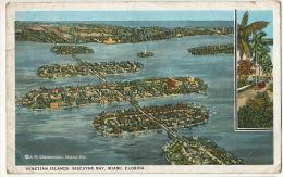 Venetian Islands Biscayne Bay Miami Ils Venise  Envoi A Beaufai Orne France 1925 - Etats-Unis