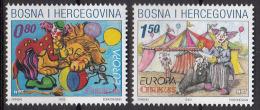 Bosnia Croatia 2002 Europa CEPT, Circus, MNH - Europa-CEPT
