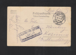 Feld-PK KuK Etappenpostamt Lublin Polen Poland 1917 - 1850-1918 Imperium