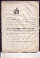 IXELLES Jean GODEFROID SCHEYVEN 1804-1862 Ancien Député MECHELEN MALINES ROERSCH Doodsbrief - Todesanzeige