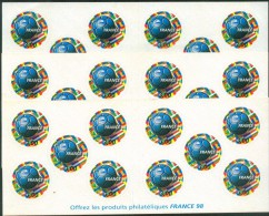 France 1998 Footbal - Carnet, YT BC 3140, Neuf**, 3x, Non Plie - Booklets