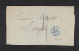 France Lettre 1833 Paris Pour L'Aigle - Marcophilie (Lettres)