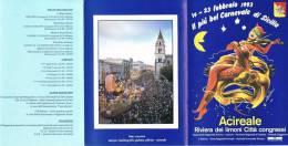 CARNEVALE ACIREALE(CATANIA) SICILY 1993-PROGRAMMA-CARNIVAL-CARNAVAL- - Carnival
