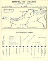 """Carte De Visite De ALGER """" Hotel De L'oasis """"  ( 4 Volets ) + Carte Au Verso . - Visiting Cards"""