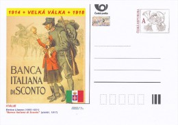 "Czech Rep. / Postal Stat. (Pre2014/22) Great War (WWI) 02 Italy: Enrico Lionne ""Banca Italiana Di Sconto"" - Briefe"