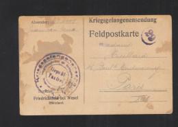 Kriegsgefangenensendung Friedrichsfeld Bei Wesel Rheinland 1916 - Briefe U. Dokumente