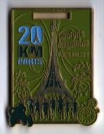 Médaille Émaillée Marathon : 20km De Paris 2011 (sans Ruban Original) - France
