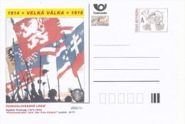 "Czech Rep. / Postal Stat. (Pre2014/23) Great War (WWI) 03 Czechoslovak Legion: Vojtech Preissig ""Czechoslovaks! Join..."" - Briefe"