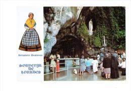 Bernadette SOUBIROUS - La Grotte De Massabielle - Souvenir De Lourdes - Jungfräuliche Marie Und Madona