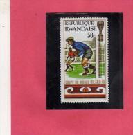 REPUBLIQUE RWANDAISE RWANDA 1970 MEXICO 70 FOOTBALL CHAMPIONSHIP WORLD CUP COOPA DEL MONDI CALCIO CENT. 50  MNH - Rwanda