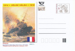"Czech Rep. / Postal Stat. (Pre2014/25) Great War (WWI) 05 France: Tahsin Siret ""Sinking Battleship Bouvet At Dardanelles - Briefe"