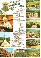 Nos Grands Vins France  Vin Wijn Wein Wine Vino  Landkaart Carte Géographique Frankrijk - Vignes