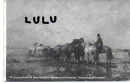 Troupeau  De Cheveaux , Inondation En Camargue, Salon De Paris 1918 - Pferde
