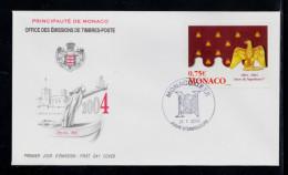 MONACO 2004 FDC YT N° 2443 Bicentenaire Du Sacre De L´Empereur Napoleon 1er AIGLE Et Abeilles Ornant Le Manteau Du Sacre - FDC