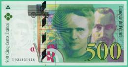 France - 500 Francs - Pierre Et Marie Curie - N° H 022131426 - 1994  -  Neuf - 1992-2000 Dernière Gamme