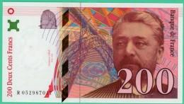 France - 200 Francs - Eiffel - N° R 052987017 - 1997 - Splendide - 1992-2000 Dernière Gamme