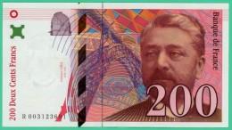 France - 200 Francs - Eiffel - N° R 0031236914 - 1995 - Splendide - 1992-2000 Ultima Gama