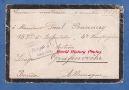 Enveloppe Ancienne Adressée Au Poilu Paul BANNERY 153e Régiment D´Infanterie Prisonnier à GRAFENWOHR - Cachet Gepruft - Militaria