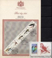 RSA Sittich Ciskei Block 8 ** Angel-Fliegen 1982 Transkei 98/102 FDC 15€ Bloc Hb M/s WWF Sheet Bf Südafrika South Africa - Nature