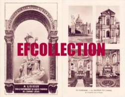 LISIEUX 1950 BASILIQUE ET CHAPELLE DU CARMEL ET DE LA CHASSE LES BUISSONNETS CHAMBRE DU MIRACLE RELIGION 4 SCANS RARE - Historical Documents