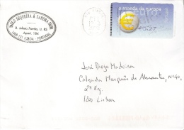 Portugal Cover With Euro ATM Stamp - Lettere