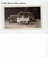 1935 - CITROEN TRACTION - CAMPING EN SUISSE PRES DE ST GALL - UNE FAMILLE - PHOTO 11.5 X 7 CM - Automobiles