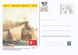 "Czech Rep. / Postal Stat. (Pre2014/26) Great War (WWI) 06 Ottoman Empire: Tahsin Siret ""Turkish Fleet During Maneuvers"" - Militares"