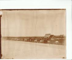 GRANDE PHOTO ALBUMINEE 19 EME LABOURAGE Avec 4 Chevaux Probablement Environs De PORTBAIL MANCHE - Ancianas (antes De 1900)