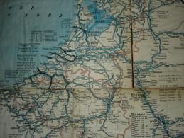 Nederland, België/ Zwitserland Bevaarbare Waterlopen Voor Binnenschepen Vanaf 50 T Kaart In 7 Delen (zeldzaam) - Cartes Marines