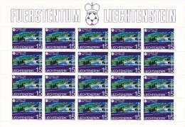 Liechtenstein Nº 740 Al 742 En Minipliegos De 20 Series - 1982 – Espagne