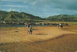 MONGOLIA  TSETSERLIG  Horsemen Aimak  Cowboy  Cavalli - Mongolia