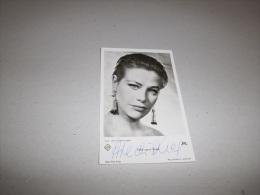 JOLIE CARTE PHOTO D'EPOQUE HILDEGARD KNEF AVEC VERITABLE AUTOGRAPHE 9 X 14 - Autographes