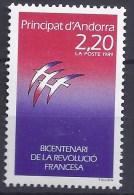 ANDORRE  FRANCAIS - Yvert - 376** - Cote 1,40 € - Bicentenaire De La Révolution - Révolution Française