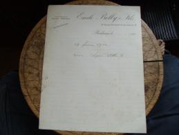 Ancienne Facture  Bordeaux Emile Belly - France