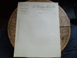 Ancienne Facture  Begles Dorgueilh Bois Charbon - 1900 – 1949