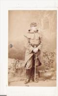 RARE PHOTO PETIT FORMAT  SOLDAT FRANCAIS PERIODE DU SIEGE DE PARIS 1871 CONTRE LES PRUSSIENS - War, Military