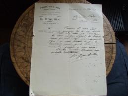 Ancienne Facture  Chateauroux Viguier Fruits Des Alpes - 1900 – 1949