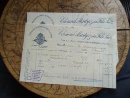Ancienne Facture  Lot De 2 Villefranche De Rouergue Marty Nasse Ratier Et Peche - 1900 – 1949