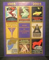 AUTO-SALON GENÈVE, Bloc FDC 2005 + 1983 (oblitéré à L`expo) + Bloc Ed. Privé: Affiches Historiques - Coches