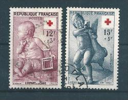 France  Timbres De 1955 Croix Rouge  N°1048/49  Oblitéré (cote 16,50€) - Francia