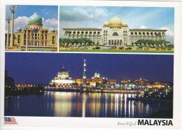 Malaysia 2010 Postcard  Putra Mosque Putrajaya,Palace Of Justice & Perdana Putra Prime Minister's Office Compl - Malaysia