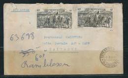 COTE DES SOMALIS N°PA 14 (1 Def) Obl. S/Lettre  Pour La France - Lettres & Documents