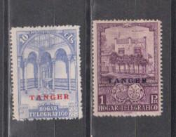 Tanger 1937 10c,1p Habilitados Pro Huerfanos De Telegrafos,sin Fijasello,no Expendido,nuevo #1244 - Spanisch-Marokko