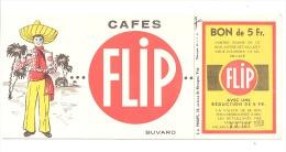 """Buvard Publicitaire- Cafés """" FLIP """" Visé - Café - Café & Thé"""